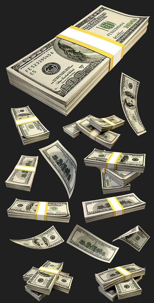 Деньги на прозрачном фоне