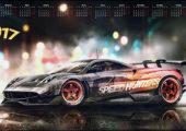 Обои календарь 2017 Need for Speed