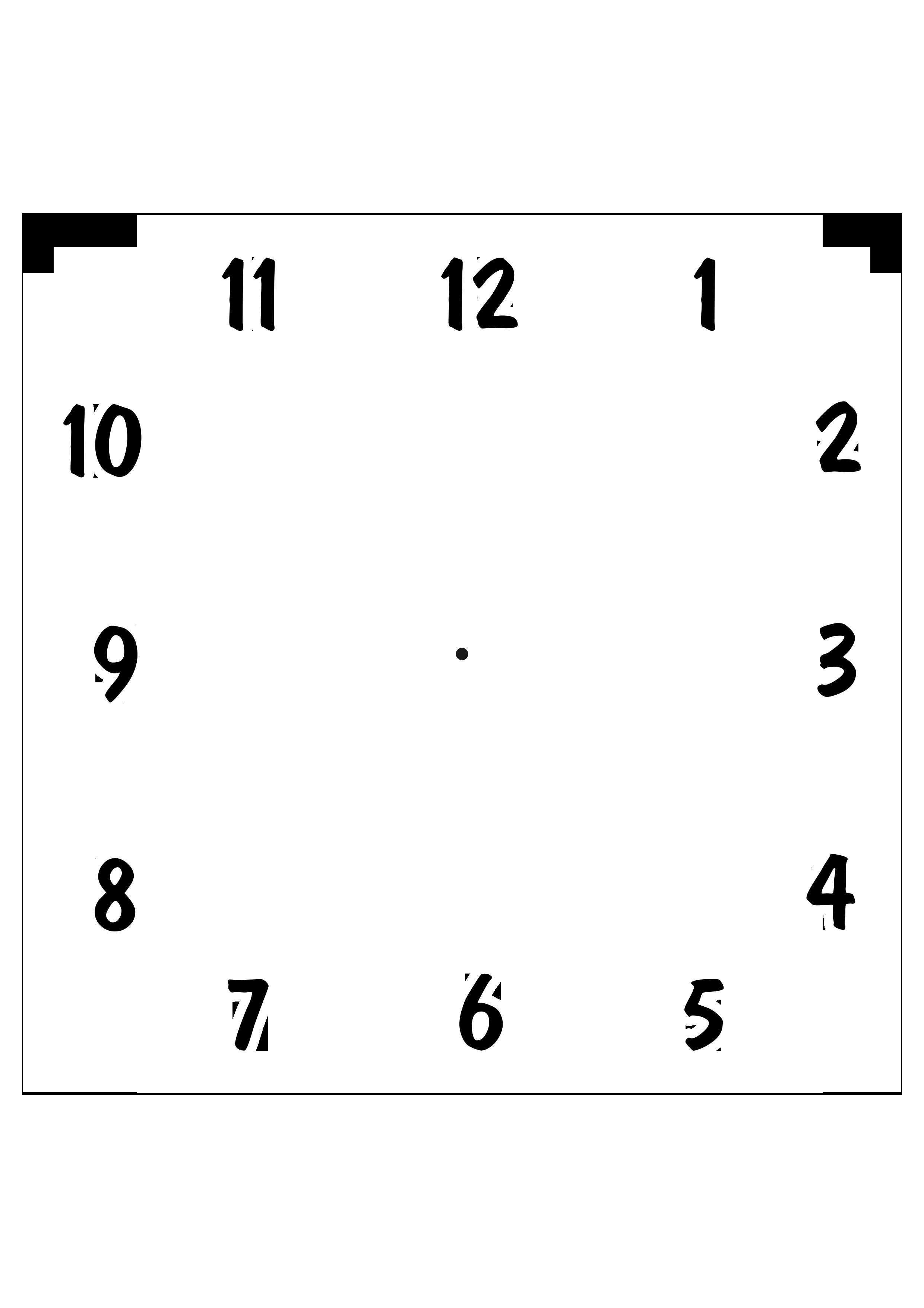 шаблон циферблата часов квадрат