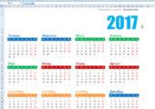 Календарь 2017 в excel