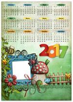 Календарь-рамка с мухомором