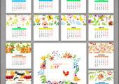 Календарь 2017 с рисунками цветов акварелью