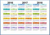 Календарь на 3 года для Word