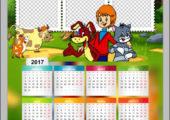 Детская рамка с календарем — Простоквашино 2017
