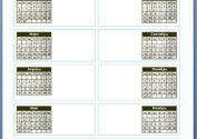 Календарь для word в две колонки на 2017 год