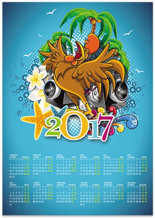 kalendar-2017-s-gorliashim-petuhom