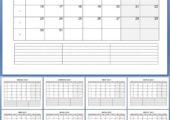 Календарь на 2017 год, где месяца отдельно (.doc)
