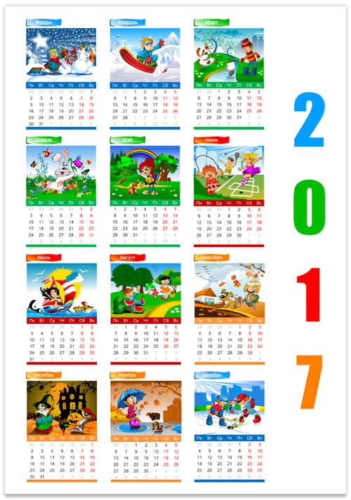 calendar-s-cartinkami