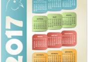 Календарь с головой петуха на 2017 год