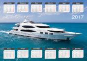 Календарь с яхтой на 2017 год