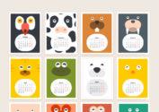 Милый календарь 2017 с животными