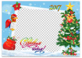 Самые красивые новогодние открытки на 2017 год