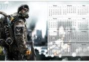 Обои-календарь Tom Clancy's 2017