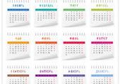 Календарные сетки 2017 в векторе