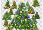 Картинки елок на прозрачном фоне для открыток и календарей