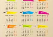 Календарь 2017 для магазина красок