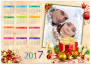 Календарь — новогодняя рамка 2017