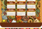 Декоративный календарь на 2017 год