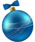 Голубая игрушка с бантиком и белыми полосками
