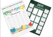 Календарь 2017 с расписанием уроков