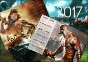Игровые календари на 2017 год