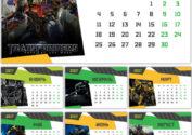 Календарь 2017: Трансформеры на 12 листах