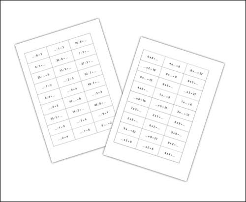Скачать бесплатно карточки по математике: сложение, вычитание, умножение и деление