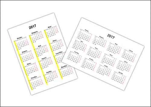 Календарь 2017 с номерами недель