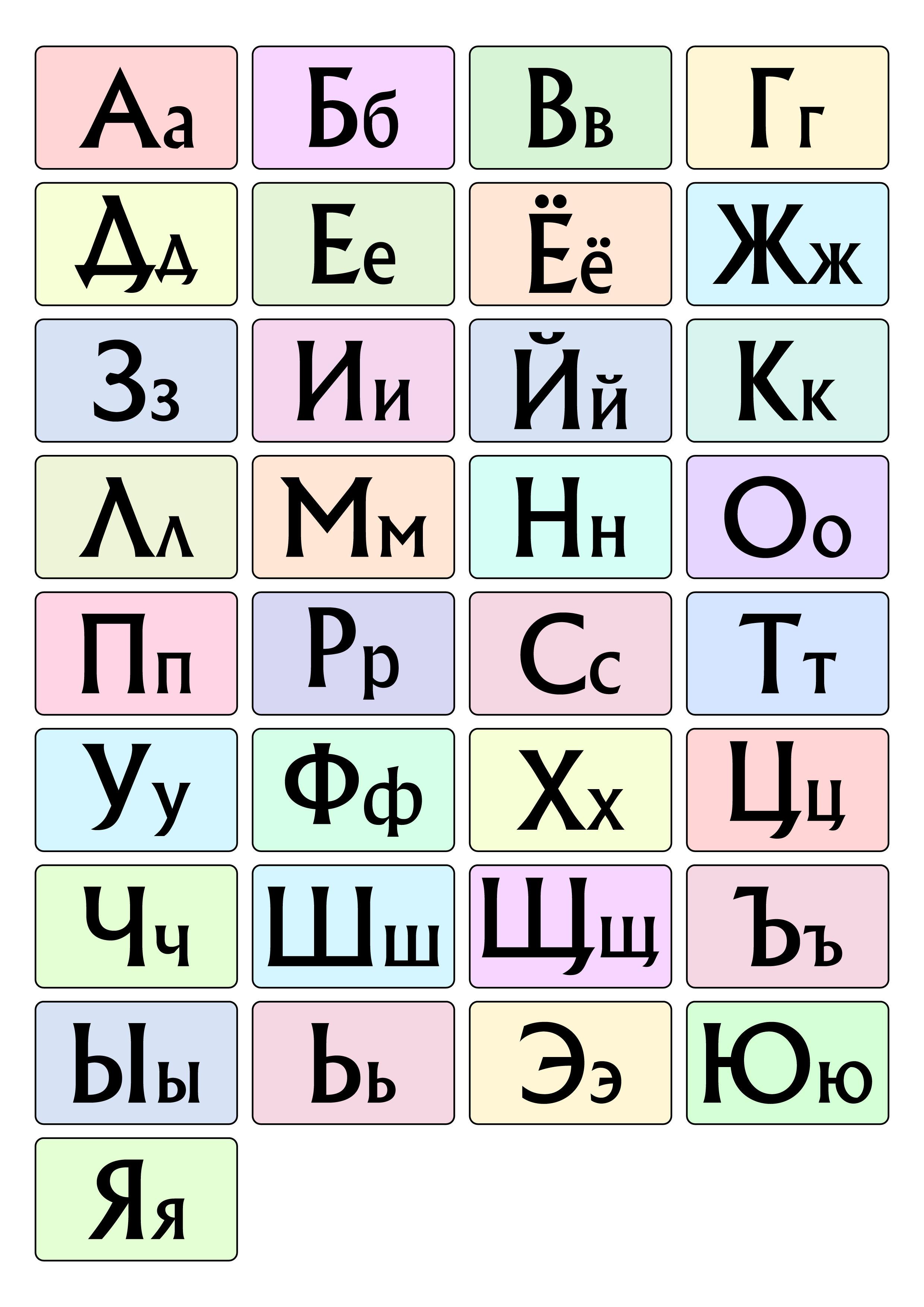 Скачать бесплатно русский алфавит — 3mu.ru