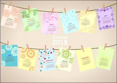 Английский календарь 2018