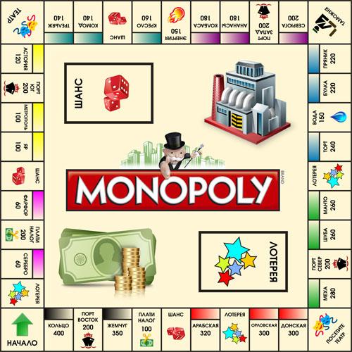 Настольная игра монополия: скачать и распечатать