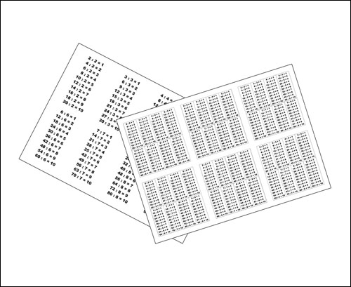 Таблица деления на 2, 3, 4, 5, 6, 7, 8, 9: скачать и распечатать