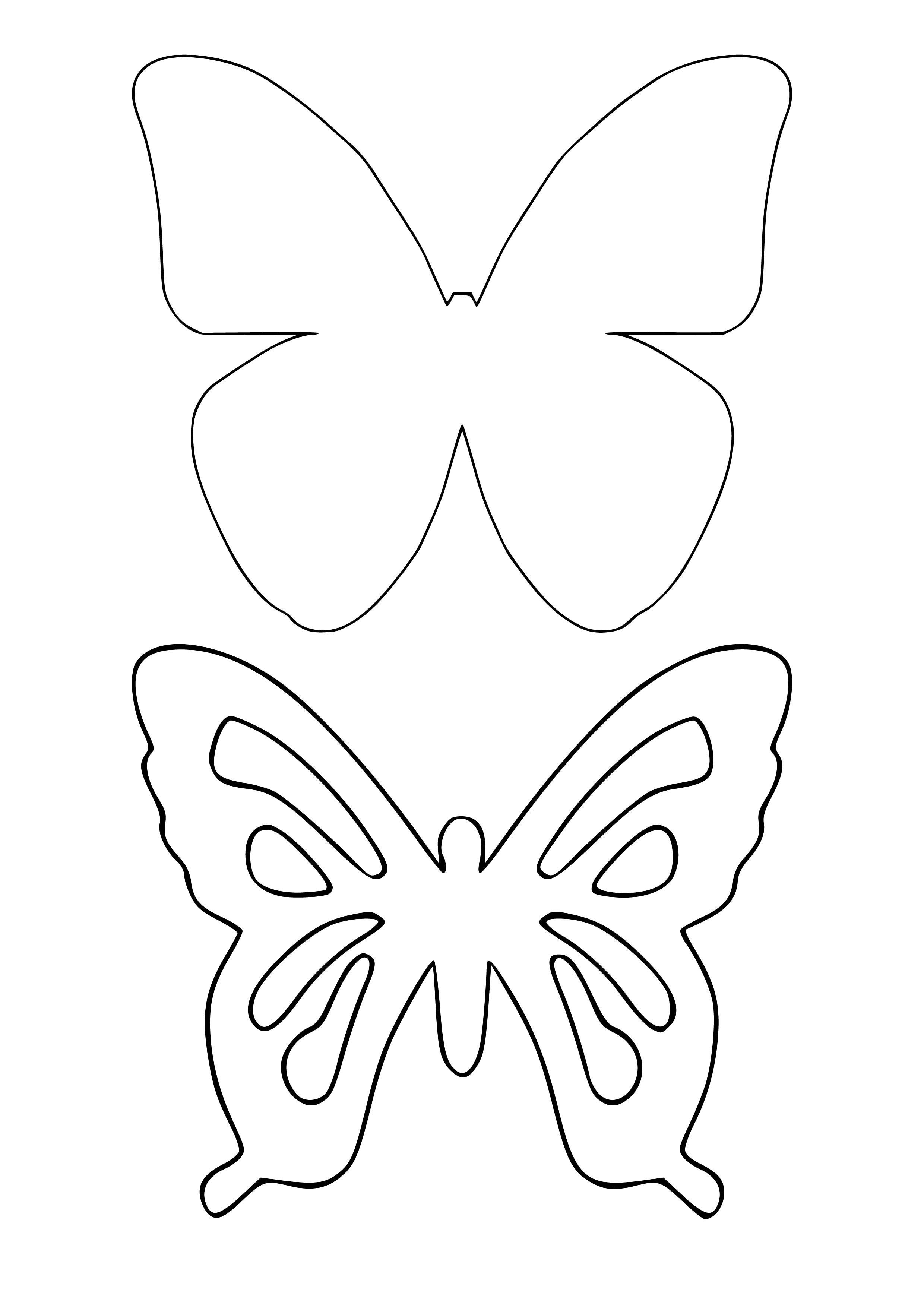 Сделать своими руками трафарет бабочек 69