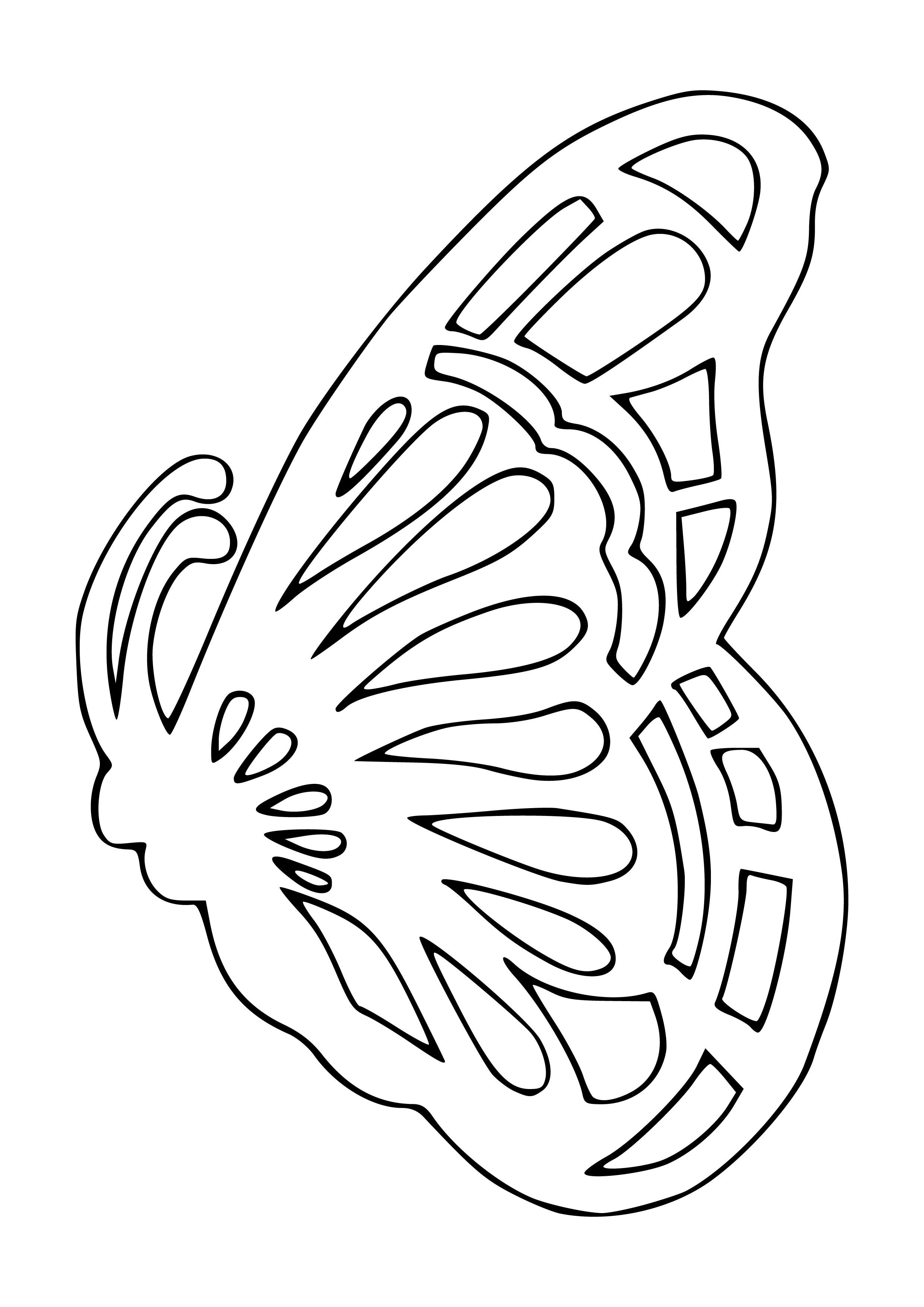 Вырезать бабочек из бумаги на окно