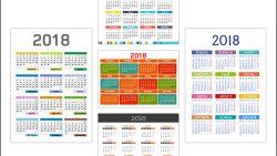 Скачать профессиональные календарные сетки в векторе на 2018 год бесплатно