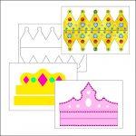 Шаблон короны из бумаги: скачать и распечатать