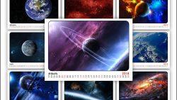 Календарь 2018: космос на каждом месяце