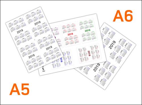Календарь на 2019 год маленький формат: распечатать А5 и А6
