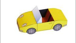 Шаблон машины из бумаги: скачать и распечатать