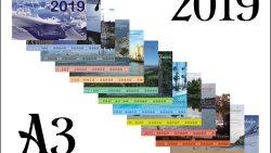 Перекидной календарь А3 на 2019 год: туристическая тема