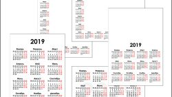 Шаблон календаря на 2019 год скачать бесплатно