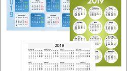 Календарь 2019 на альбомный лист