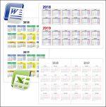 Календарь на 2018 и 2019 год: скачать и распечатать