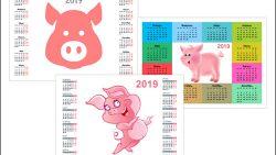 Календарь 2019: год Свиньи