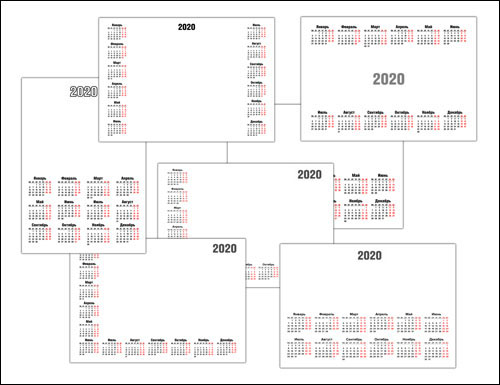 Скачать сетку календаря на 2020 год