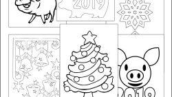Трафареты на окна к Новому году 2019: скачать, распечатать и вырезать