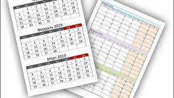 Календарь на 1 квартал 2019 года: скачать и распечатать