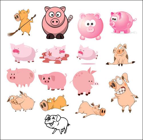 Свинья на прозрачном фоне: скачать картинки