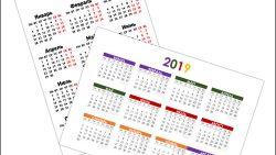 Бесплатный календарь 2019