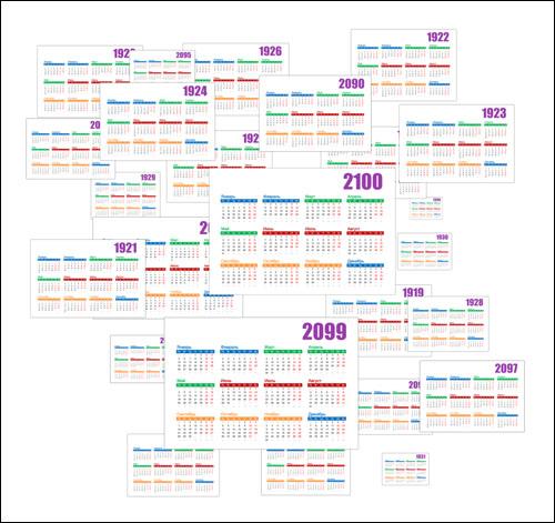 Календарь 1901-2100 посмотреть